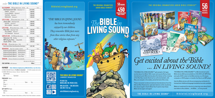 Bible In Living Sound brochure